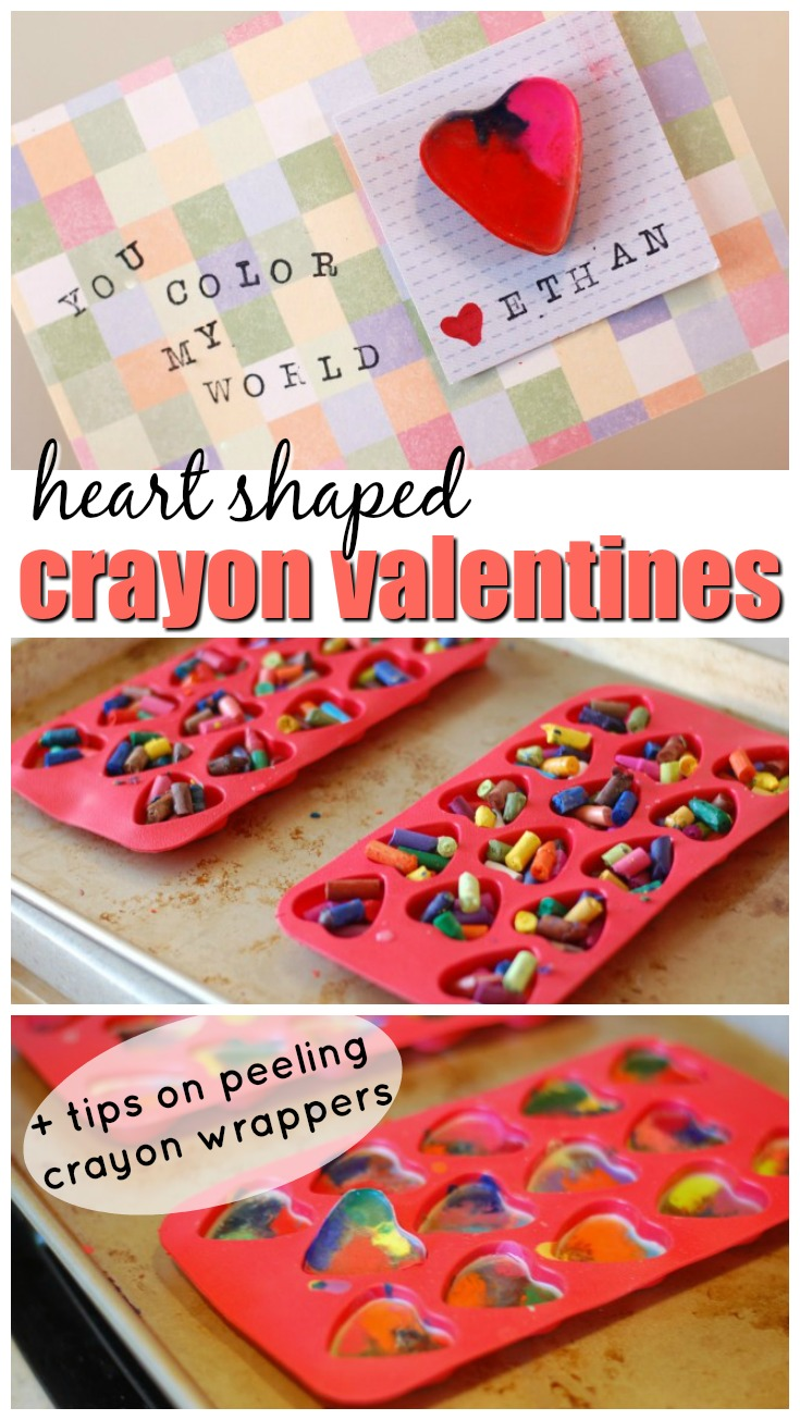 These heart shaped crayon valentines are a great way to upcycle those broken crayons you have everywhere in your house.
