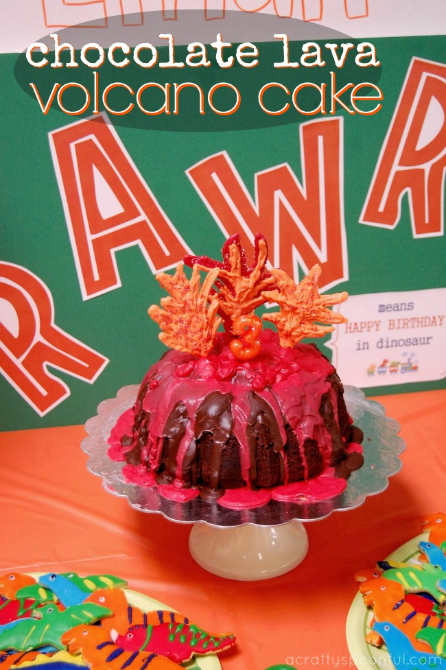 Phenomenal How To Make A Chocolate Lava Volcano Cake A Crafty Spoonful Personalised Birthday Cards Veneteletsinfo