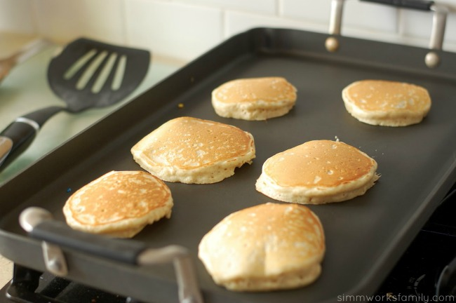 Perfect Birthday Pancakes baking