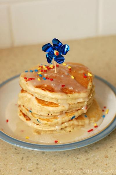 Perfect Birthday Pancakes stacked