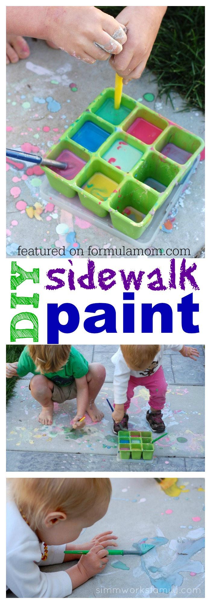 DIY Sidewalk Paint featured on Formula Mom