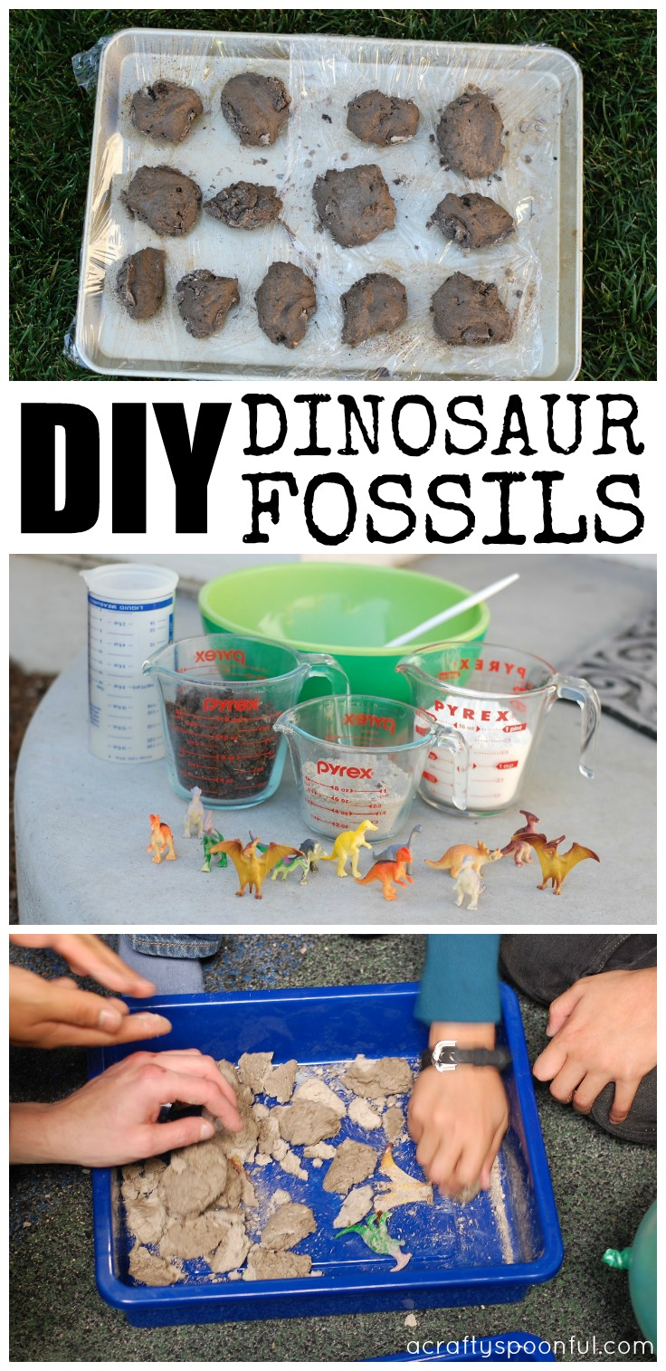 Find out how easy it is to make DIY dinosaur fossils for your next dinosaur birthday party or activity!