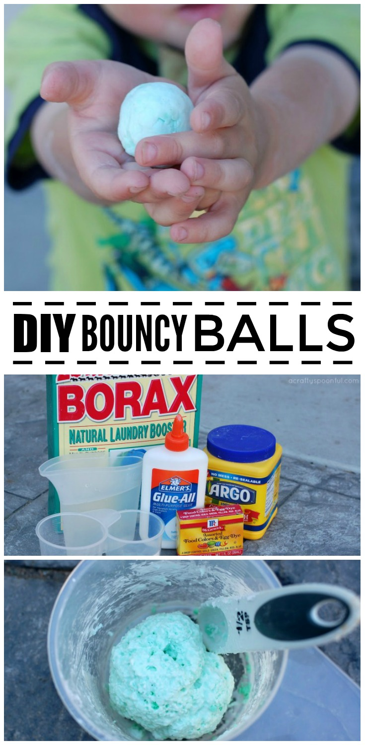 Make DIY bouncing balls with your kids and share the fun of science in the process! A great STEM activities for the little ones.