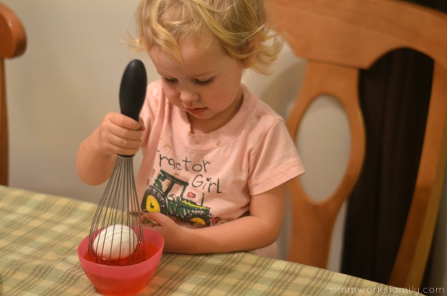 Easter Egg Tips and Tricks - use whisk to dye eggs