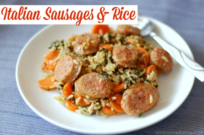 Italian Sausages & Rice