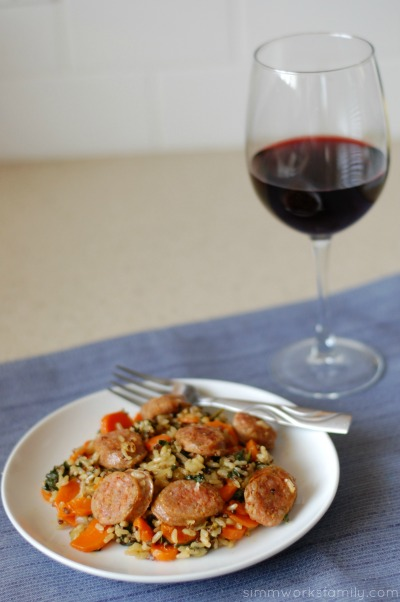 Italian Sausages and Rice - a great weeknight dinner