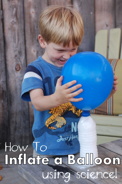 How to Inflate A Balloon Using Science