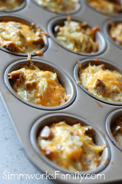 Cheesy Sausage and Potato Cups