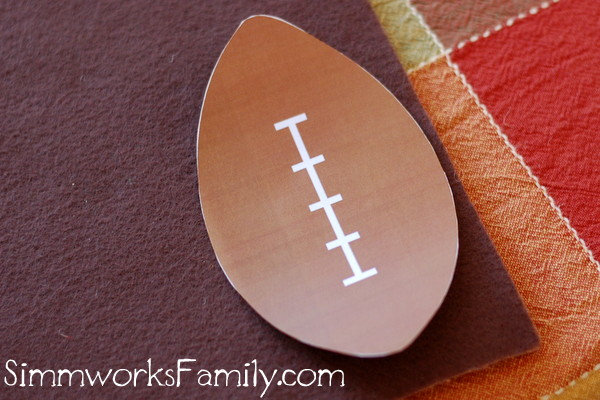 Football Coasters felt football cutouts