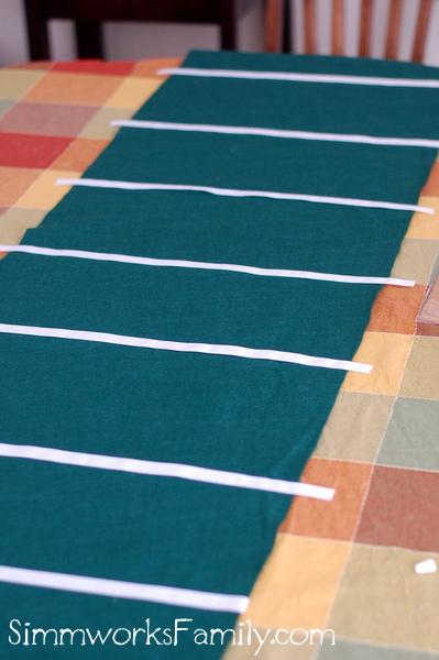 Football Table Runner yard lines