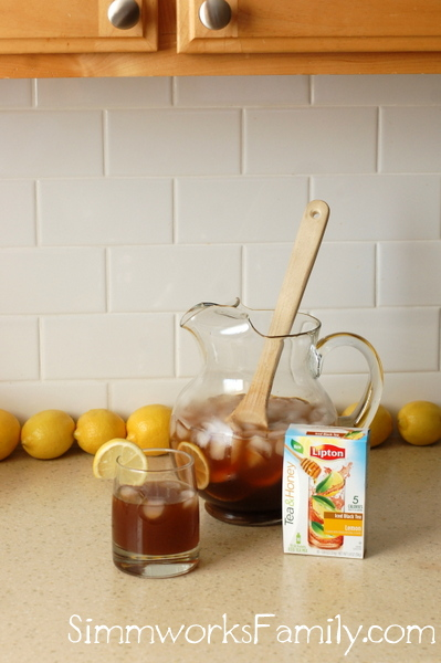 Sparkling Lemonade Iced Tea glass