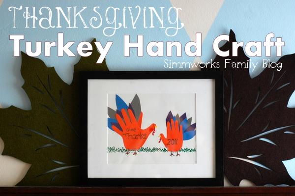 Thanksgiving Turkey Hand Craft