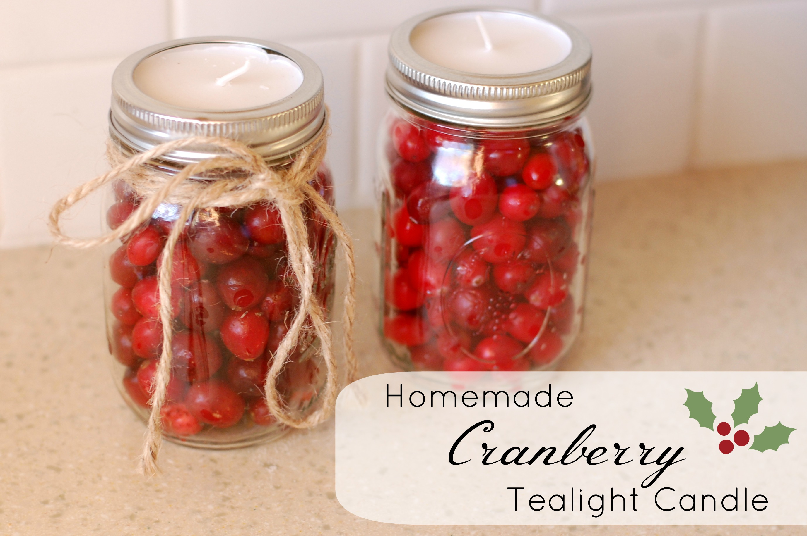 Homemade Cranberry Tealight Candle