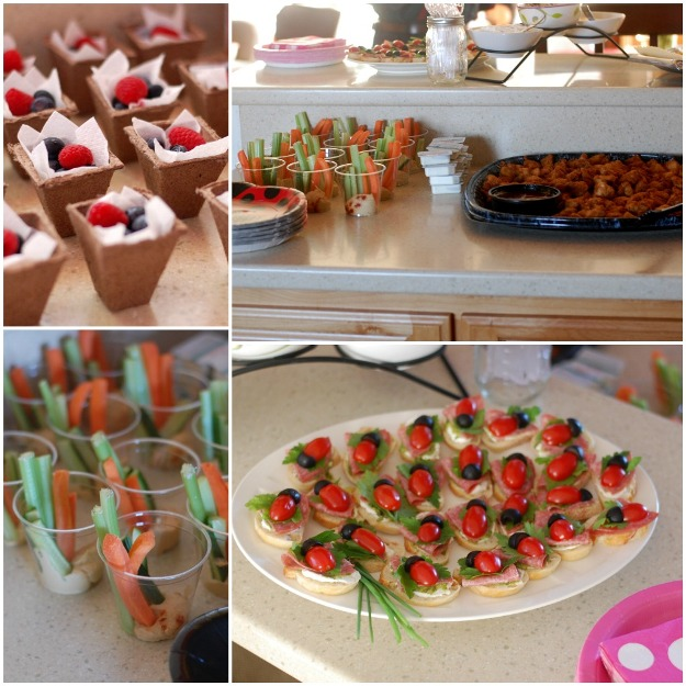 Ladybug Lemonade Birthday Party food