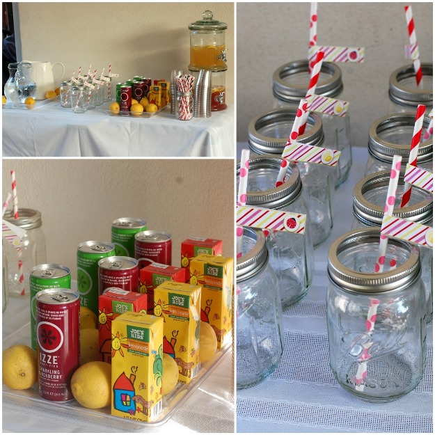 Ladybug Lemonade Birthday Party drinks