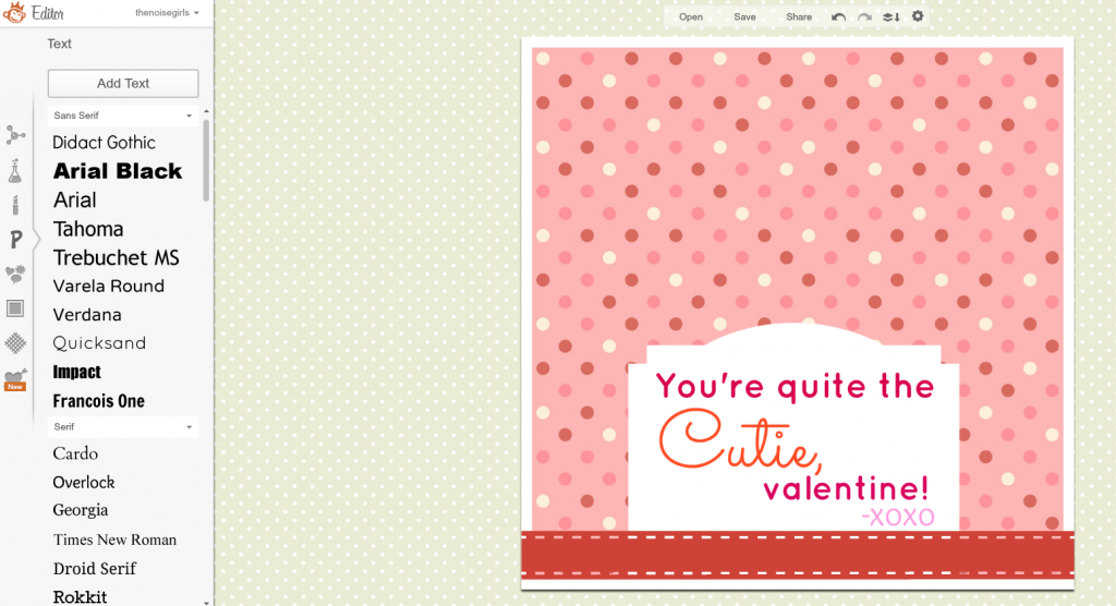 How to Make Valentines With PicMonkey add font