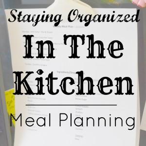 Meal Planning Kitchen Organization