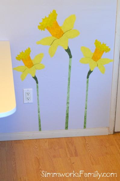 My Wonderful Walls daffodil wall decal