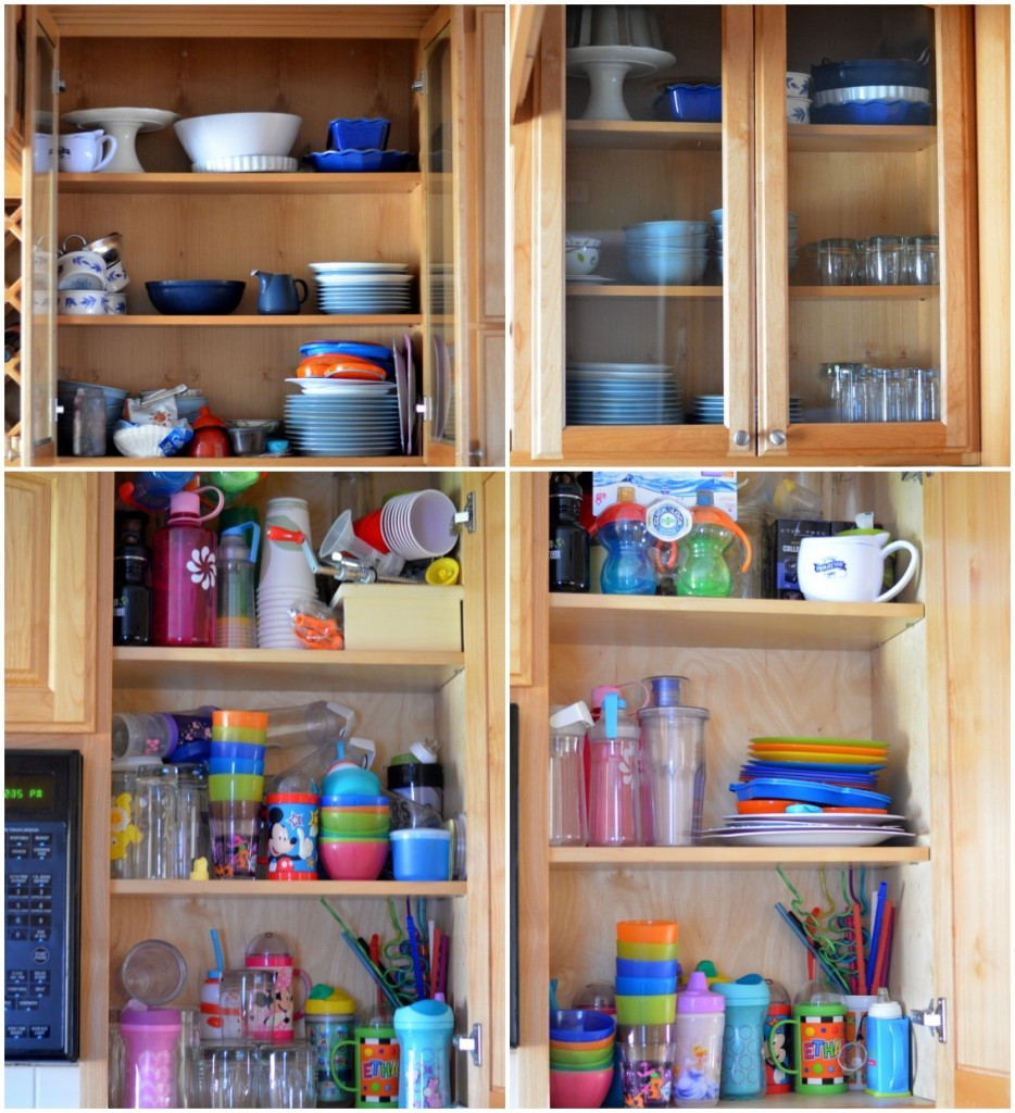 Organizing the Kitchen Cupboards