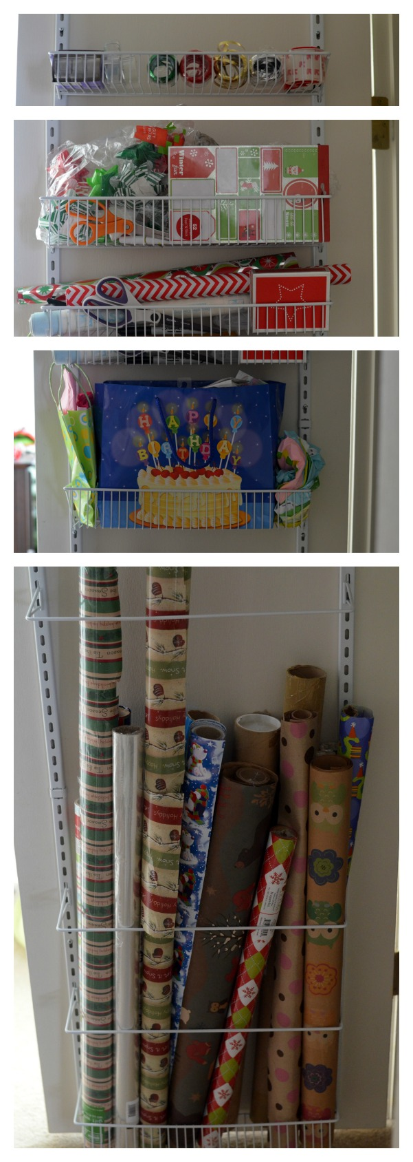Over the Door Wrapping Paper Storage