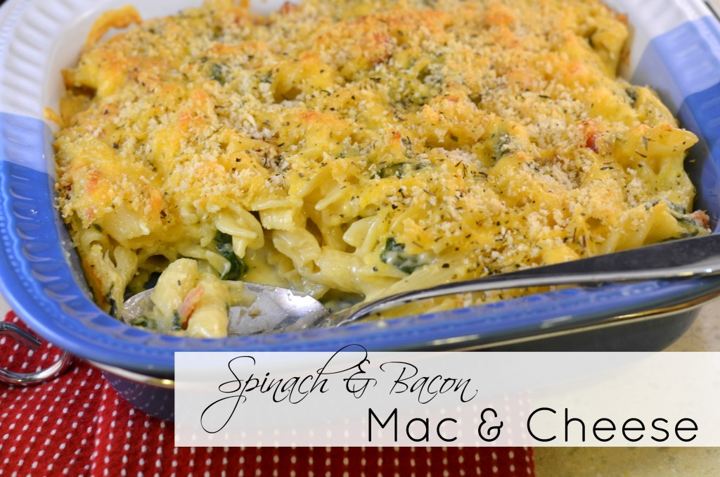 Spinach and Bacon Mac and Cheese
