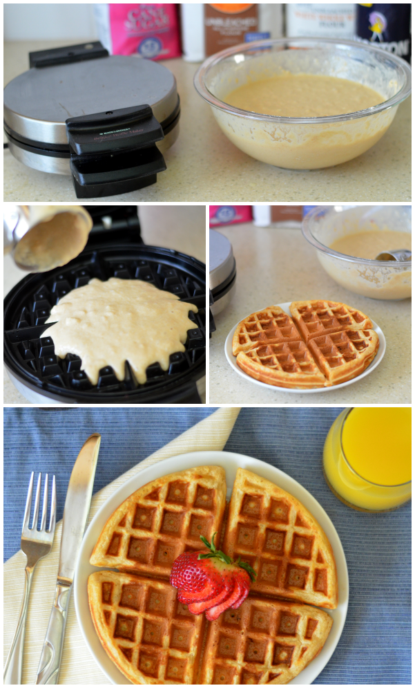 Homemade Waffles - the perfect weekend meal! Make ahead and freeze later for breakfast during the week.