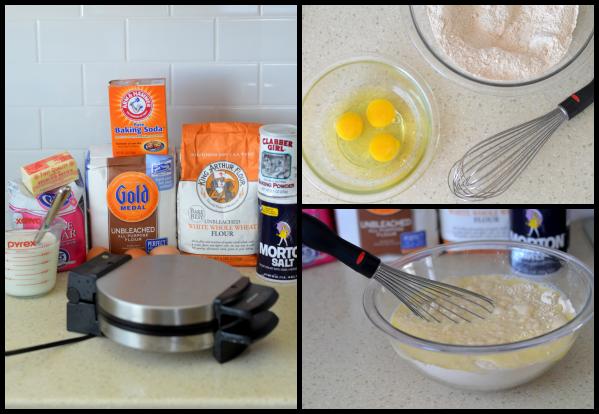 Homemade Waffles prep