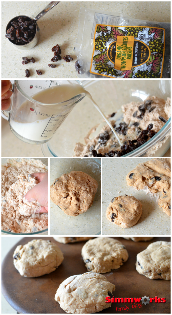 Irish Soda Bread Biscuits Recipe mixing