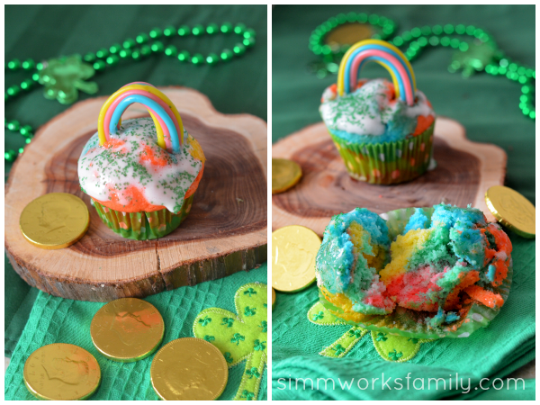Rainbow Cupcakes decorated