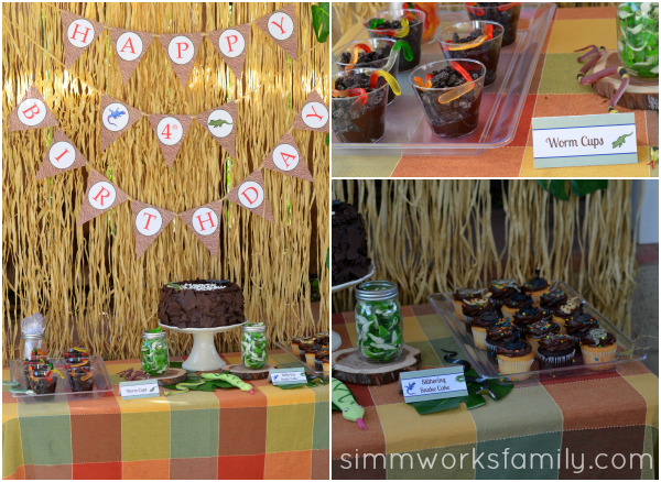Reptile Birthday Party Dessert Table