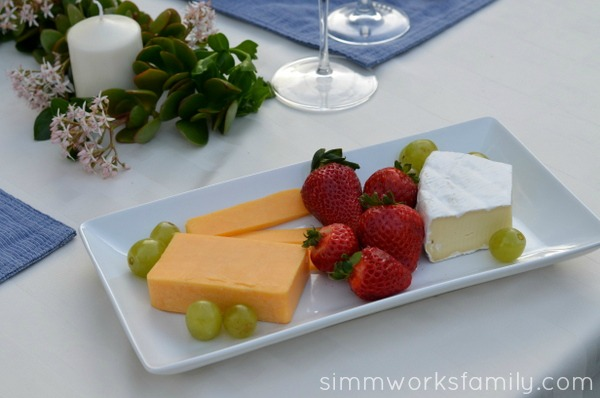 Seductive Tables for Two on a Budget - cheese and fruit #SeductiveTables