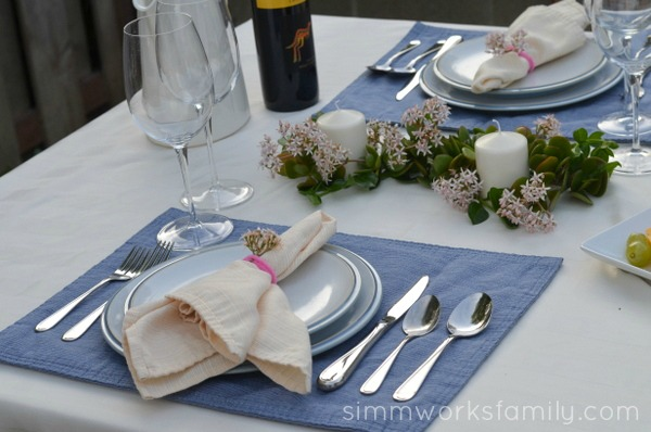 Seductive Tables for Two on a Budget - place setting #SeductiveTables
