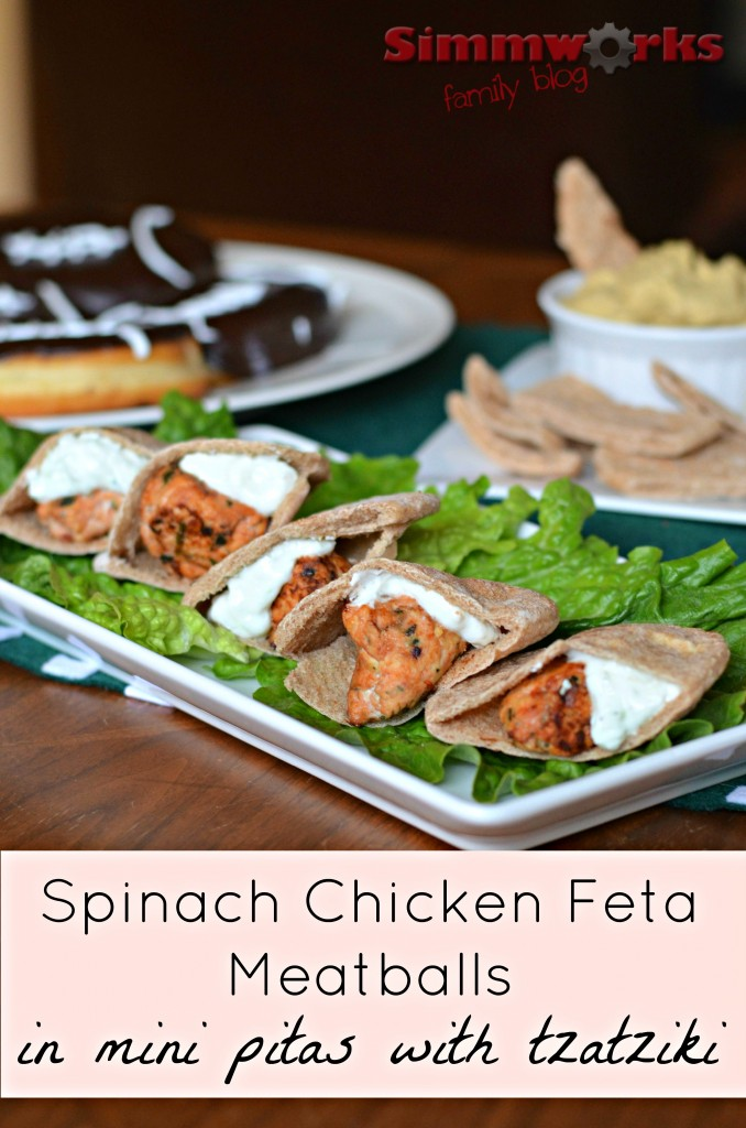 Spinach Chicken Feta Meatballs with Classico Tomatoes
