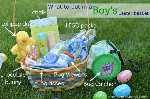 Easter basket ideas for preschoolers a crafty spoonful easter basket ideas for boys negle Choice Image