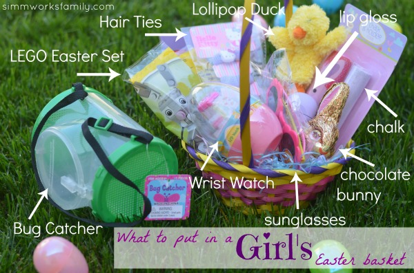Easter basket ideas for preschoolers a crafty spoonful easter basket ideas for girls negle Choice Image