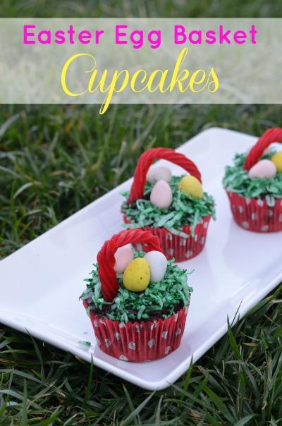 Easter Egg Basket Cupcakes