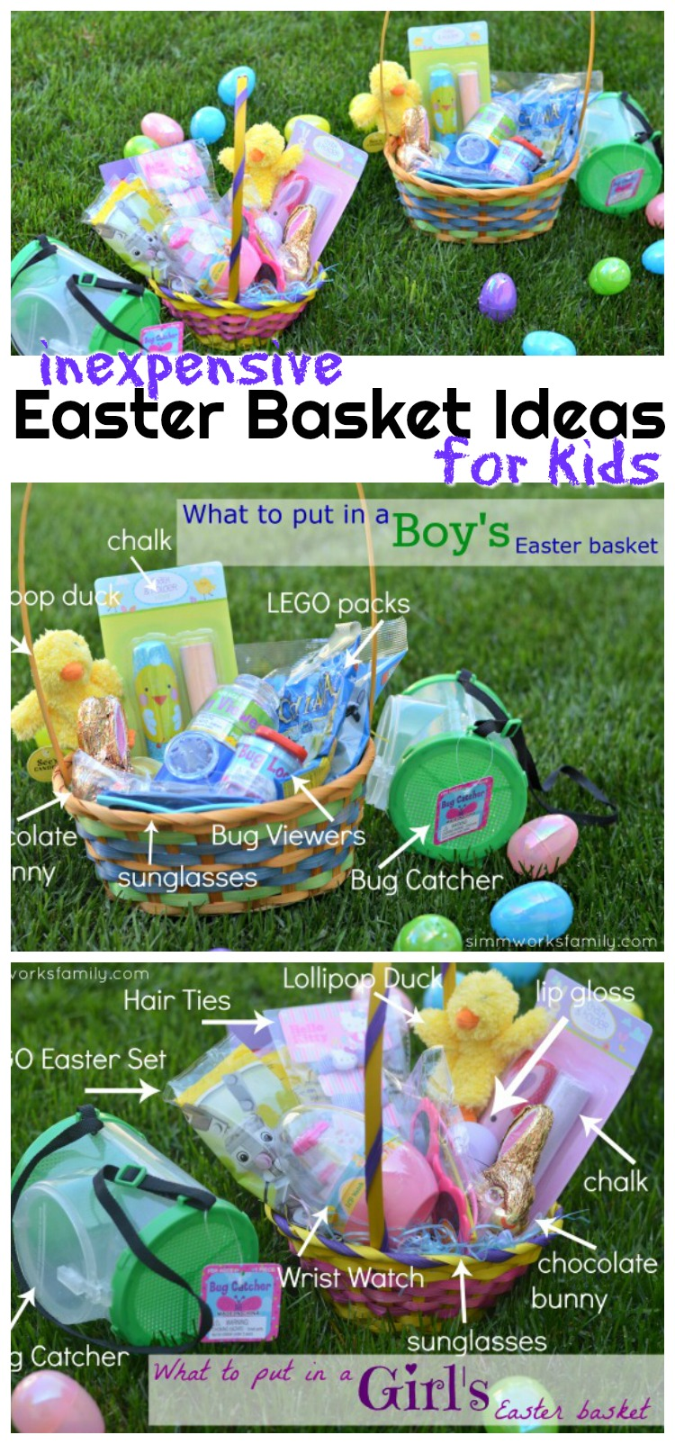 These inexpensive Easter basket ideas for kids won't break the bank! We take a simple approach to Easter baskets in our family and are sharing our tips and tricks with you.