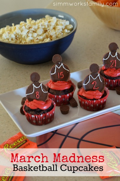 March Madness Basketball Cupcakes