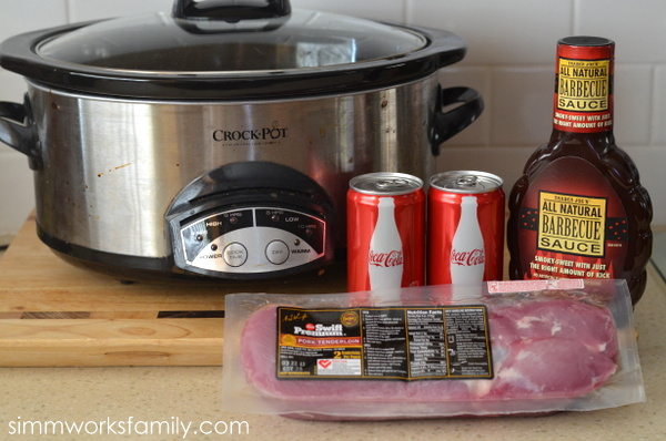 Slow Cooker BBQ Coke Pork ingredients