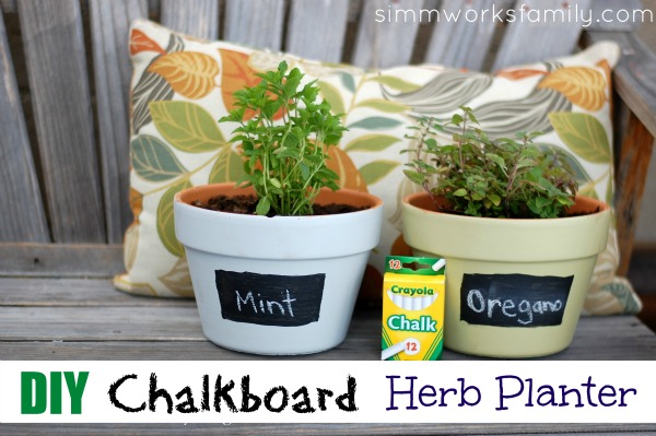 DIY Chalkboard Herb Planter