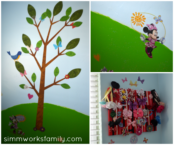 Glidden Disney Paint Minnie Mouse Makeover details
