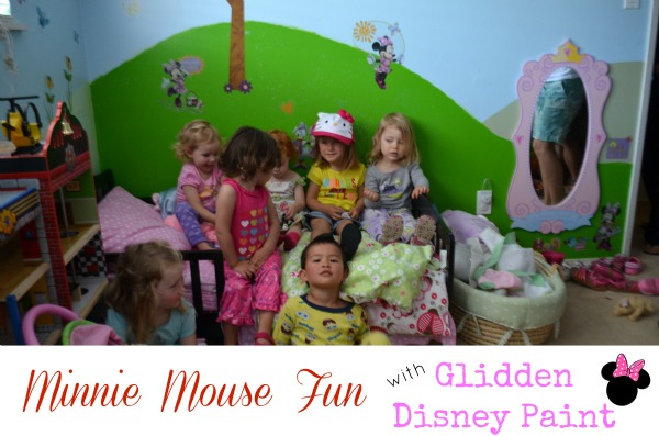Glidden Disney Paint Minnie Mouse Makeover - guests