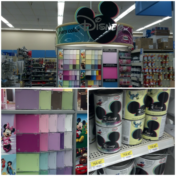 Glidden Disney Paint display in Walmart