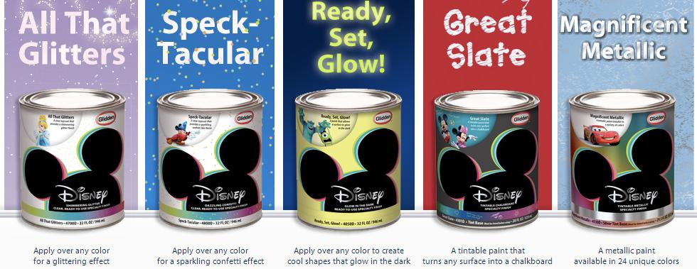 Glidden Disney Paint line