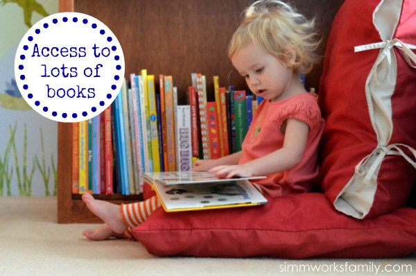 Kids Reading Nook Idea - Access to Books