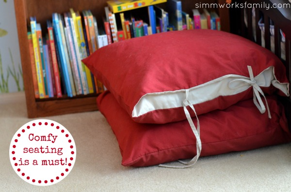 Kids Reading Nook Ideas - Comfy Seating a Must