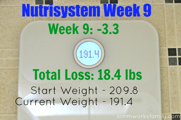 Nutrisystem Weight Loss Week 9