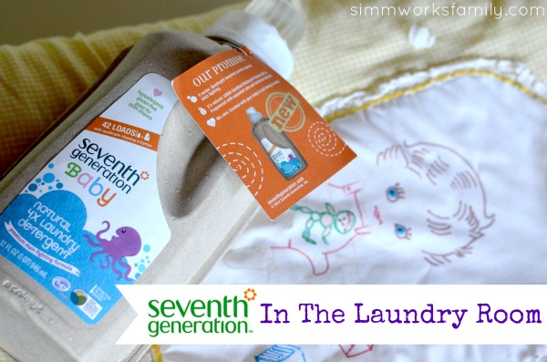 Seventh Generation Products in the laundry room