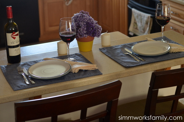 date night dinner tablescape