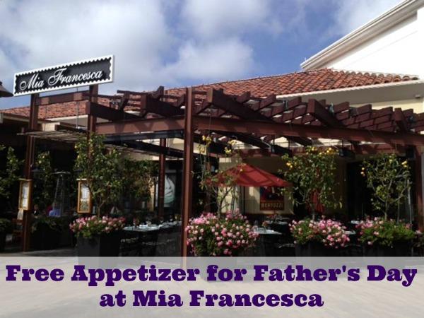 Celebrate Father's Day at Mia Francesca